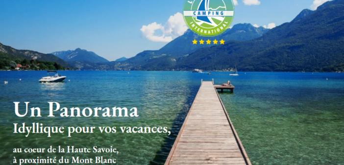Le meilleur de la Savoie à portée de soi depuis le camping du Lac Bleu d'Annecy
